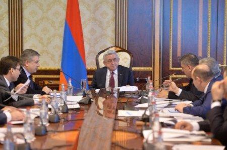 Սերժ Սարգսյանը խորհրդակցություն է անցկացրել տնտեսական հարցերով