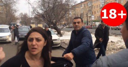 Հայ կինը Ռուսաստանում սխալ կայանման դեմ պայքարողների հետ կռիվ է անում՝ ամենավերջին հայհոյանքները տալով (տեսանյութ)