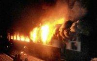 Ընթացքի ժամանակ այրվել է ուղևորներ տեղափոխող գնացքը