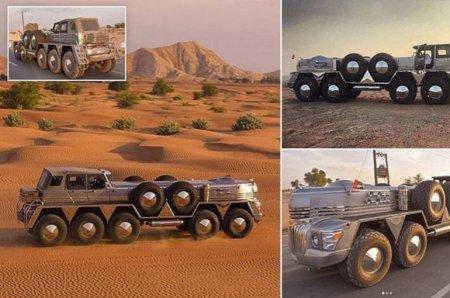 Տեսանյութ.Արաբ շեյխի համար ստեղծվել է 24 տոննայանոց, աշխարհում ամենամեծ ու տարօրինակ արտաճանապարհային մեքենան
